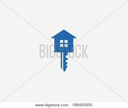 key with house, house key icon