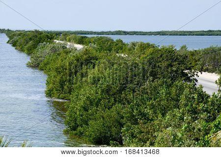 Road to the island of Cayo Coco across the atlantic cuba