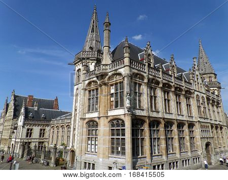Former Post Office, the Impressive Historic Building in Ghent, Belgium