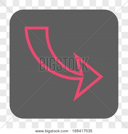Redo interface toolbar button. Vector icon style is a flat symbol inside a rounded square button pink and gray colors chess transparent background.
