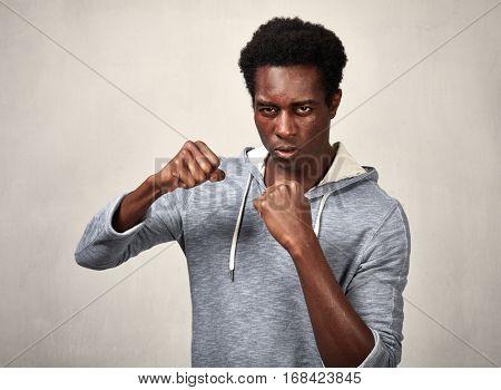 Aggressive black man.