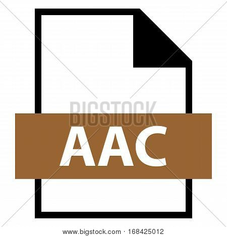 Use it in all your designs. Filename extension icon AAC Advanced Audio Coding in flat style. Quick and easy recolorable shape. Vector illustration a graphic element.