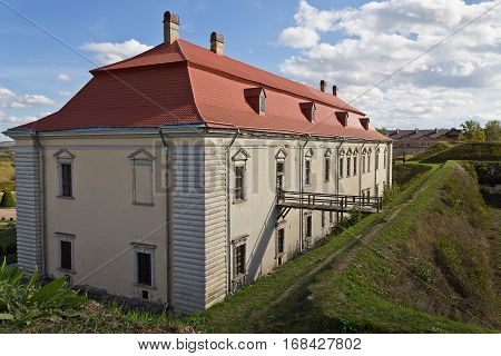 Zolochiv castle of the 17th century with earthworks. Ukraine Attractions