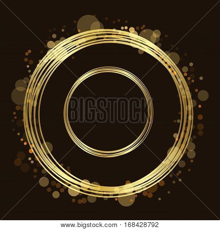 Gold Circle Glitter Background