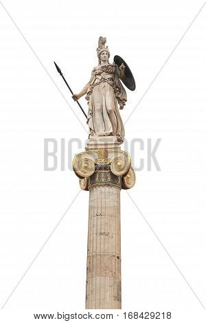 Statue of ancient god Ateina in Athens.