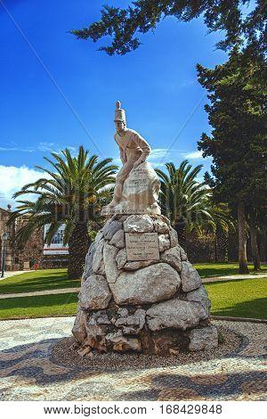 CASCAIS, PORTUGAL - SEPTEMBER 28, 2013: Monument to the 19th Infantry Regiment the Peninsular war Cascais Portugal