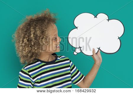 Little Caucasian Boy Smiling Chatbox