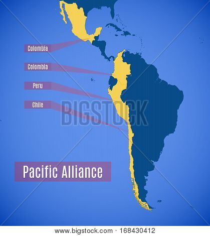 Schematic Map Of The Pacific Alliance.
