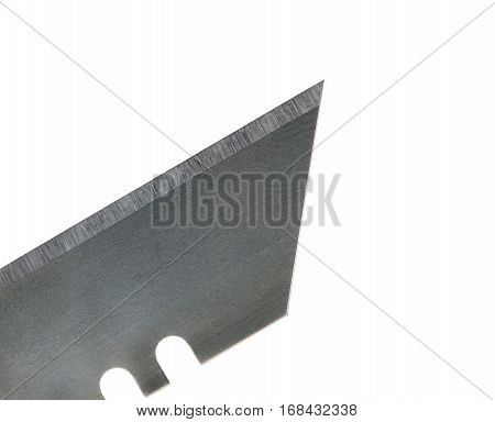 Close up image of utility knife blade