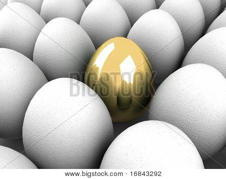 Unique golden egg