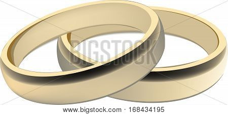 pair of gold rings for wedding ceremony wedding rings
