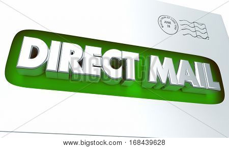 Direct Mail Envelope Advertising Marketing Campaign 3d Illustration