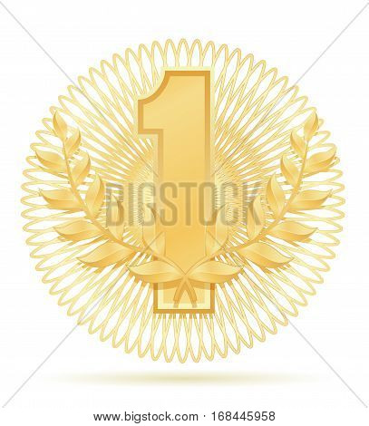 Laureate Wreath Winner Sport Gold Stock Vector Illustration