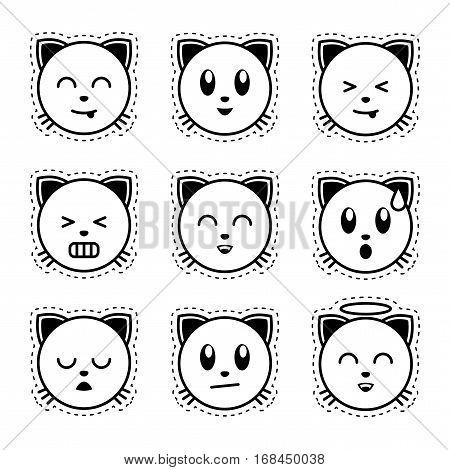 Emoji Cat Black Vector Photo Free Trial Bigstock