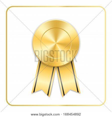 Award Ribbon Gold Icon