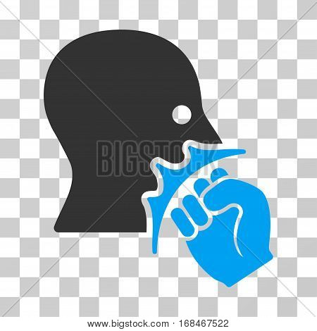 Face Violence Strike icon. Vector illustration style is flat iconic bicolor symbol, blue and gray colors, transparent background. Designed for web and software interfaces.