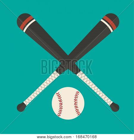 Baseball element equipment ball flat design vector stock