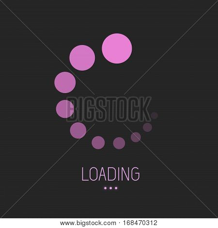 Loading preloader progress download bar internet design symbol icon flat vector stock