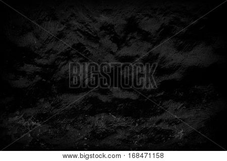 Grunge texture of the surface of the old dirty wall. Abstract black wallpaper.