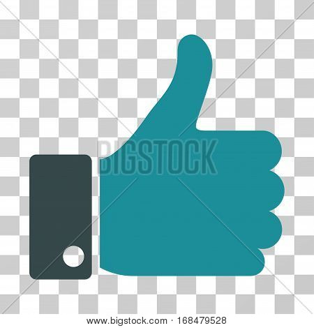 Thumb Up icon. Vector illustration style is flat iconic bicolor symbol, soft blue colors, transparent background. Designed for web and software interfaces.