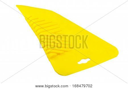 Yellow Spatula For Gluing Wallpaper