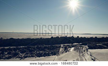 winter, snow, landscape, field, sunset, tree, sky, rural, sunrise, white, farm, dawn