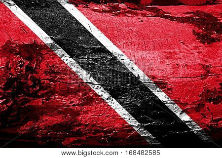 Trinidad and tobago flag with grunge texture