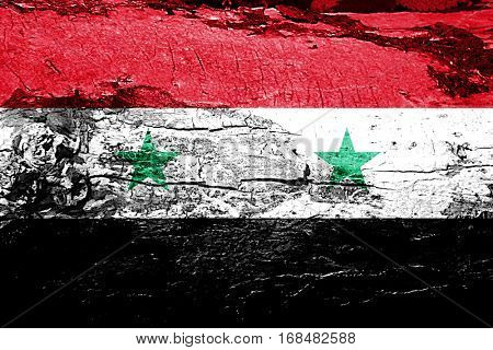 Syria flag with grunge texture