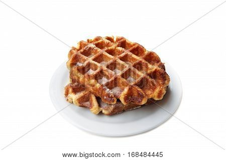 Viennese waffles isolated on a white background