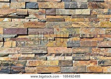 Stone tile design of modern wall