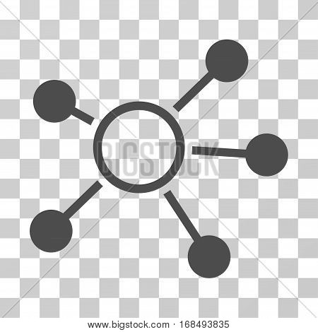 Connections icon. Vector illustration style is flat iconic symbol, gray color, transparent background. Designed for web and software interfaces.
