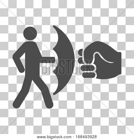 Crime Protection icon. Vector illustration style is flat iconic symbol, gray color, transparent background. Designed for web and software interfaces.