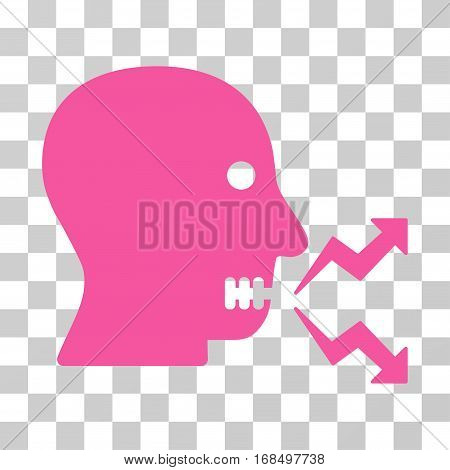 Angry Person Shout icon. Vector illustration style is flat iconic symbol, pink color, transparent background. Designed for web and software interfaces.