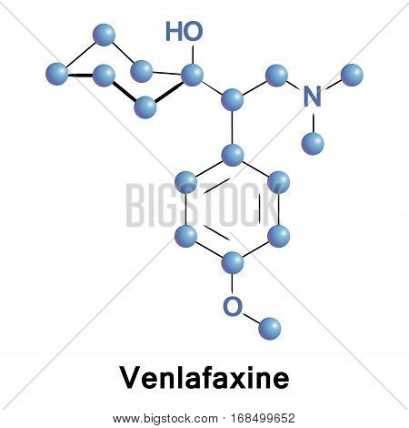 Venlafaxine is an antidepressant of the serotonin-norepinephrine reuptake inhibitor class. It ups concentrations of the neurotransmitters serotonin and norepinephrine in the body and the brain