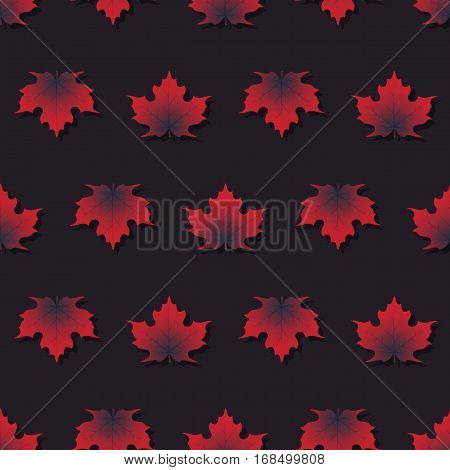 Maple Leaf Pattern Seamless Texture With Isolated Elements
