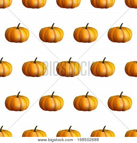 Pumpkin Seamless Pattern Texture In A Realistic Style