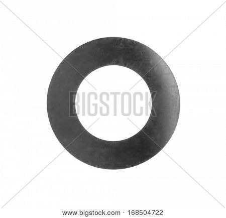Rubber gasket, isolated on white