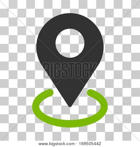 Geo Targeting icon. Vector illustration style is flat iconic bicolor symbol, eco green and gray colors, transparent background. Designed for web and software interfaces.