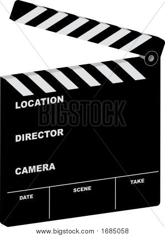 Film Clapper Open 3D
