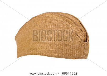 Army soldiers forage-cap isolated on white background