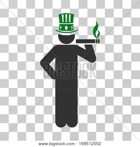 Capitalist icon. Vector illustration style is flat iconic bicolor symbol, green and gray colors, transparent background. Designed for web and software interfaces.