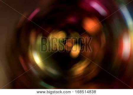 Abstract Light Blur Spinning Background