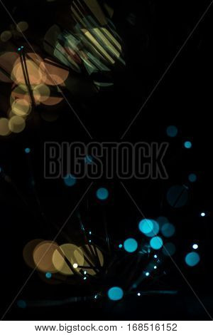 Abstract Light Blur Bokeh Background