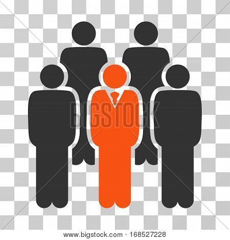 Staff icon. Vector illustration style is flat iconic bicolor symbol, orange and gray colors, transparent background. Designed for web and software interfaces.