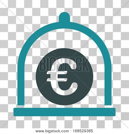 Euro Standard icon. Vector illustration style is flat iconic bicolor symbol, soft blue colors, transparent background. Designed for web and software interfaces.