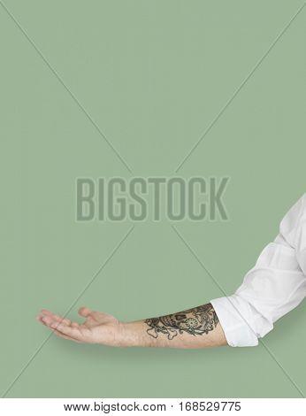 Human Hand Gesture Body Language Tattoo