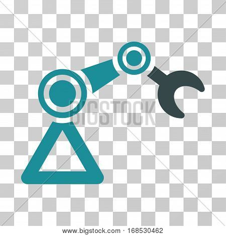 Manipulator Equipment icon. Vector illustration style is flat iconic bicolor symbol, soft blue colors, transparent background. Designed for web and software interfaces.