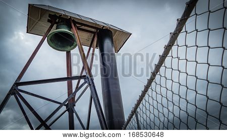 A big bronse bell used at a lighthouse