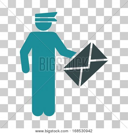 Postman icon. Vector illustration style is flat iconic bicolor symbol, soft blue colors, transparent background. Designed for web and software interfaces.