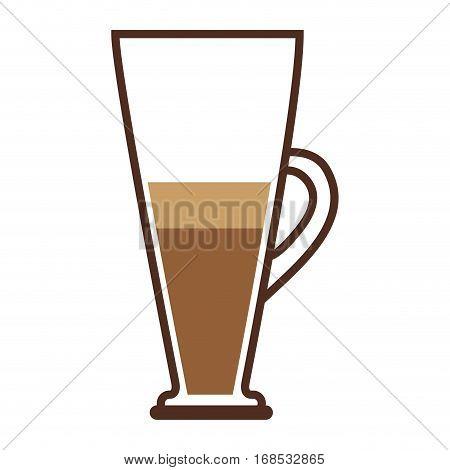 colorful tubular glass jar of coffee with handle vector illustration